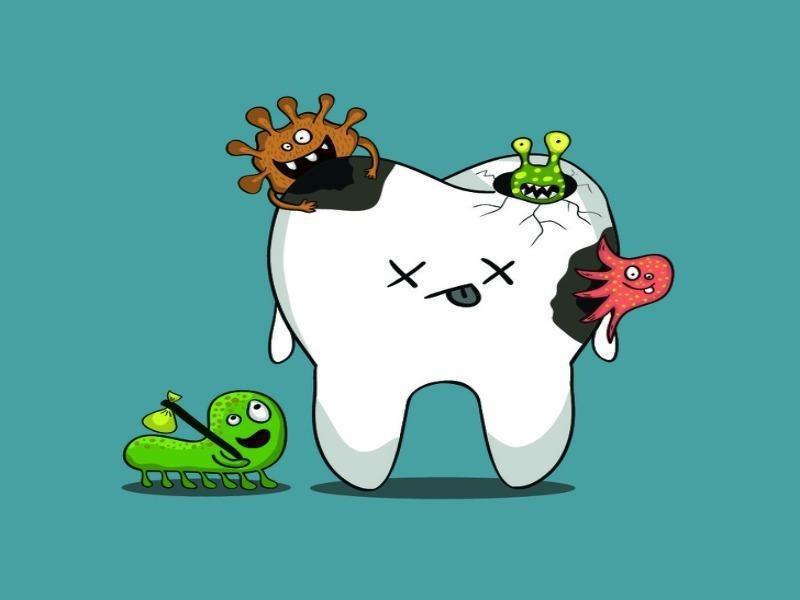 Thức ăn ngọt thúc đẩy sự hình thành sâu răng. Ảnh: Brightside
